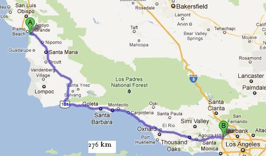 LA-Grover Beach 276km